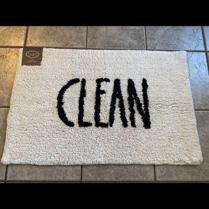 Rae Dunn CLEAN Bath rug